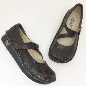 ALEGRIA Jill Brown Paisley Mary Jane Comfort Shoes